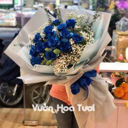Bó hoa Hồng Xanh Dương