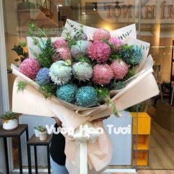 Bó Hoa Cúc Mẫu Đơn nhiều màu