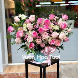 Hộp hoa Hồng - Yêu Thương