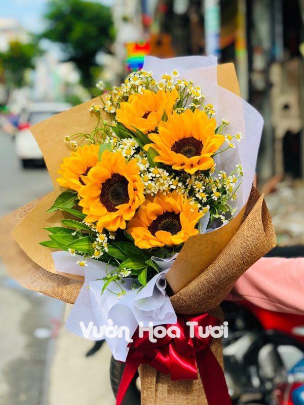 Bó hoa hướng dương đại biểu