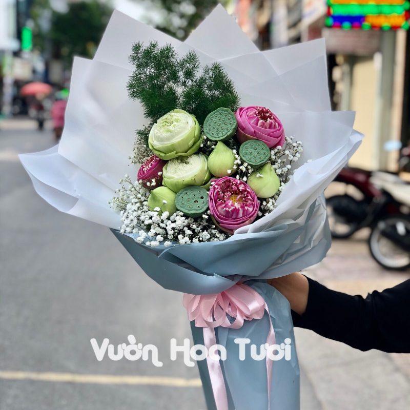 Bó hoa sen tặng Sinh nhật