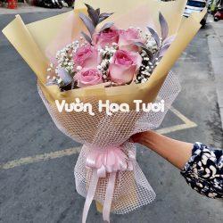 Bó hoa hồng Pastel