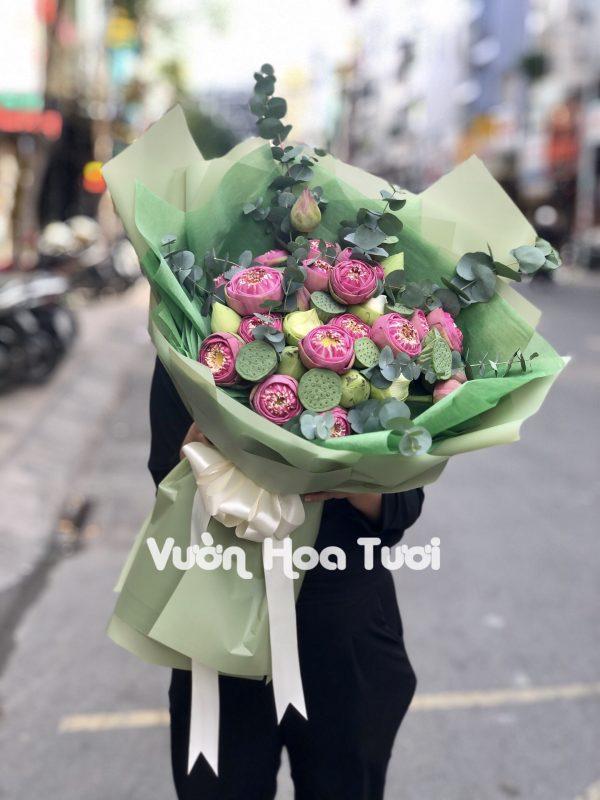 Bó hoa Sen Hạnh Phúc
