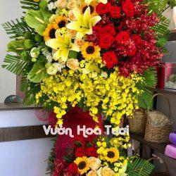 Lẵng Hoa tươi chúc mừng