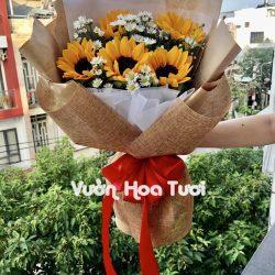 Bó hoa sự kiện hướng dương