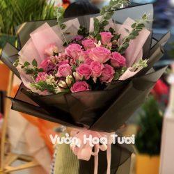 Bó hoa hồng sen Sinh nhật giá rẻ