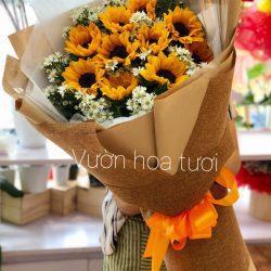 Bó hoa 10 hoa hướng dương tươi