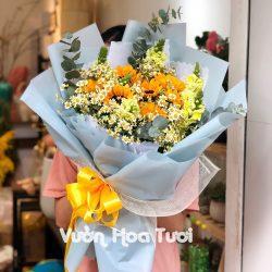 Bó hoa hướng dương mix cúc tana