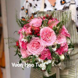 Bó hoa cưới Hồng Ohara