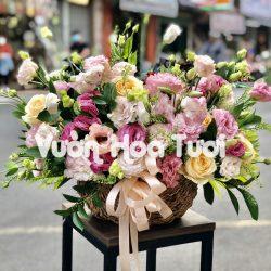 Giỏ hoa tươi chúc mừng Cát Tường