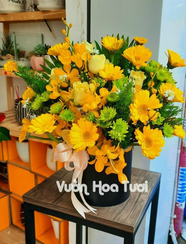 Hộp hoa sinh nhật giá rẻ Toả Sáng