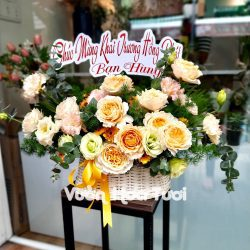 Giỏ hoa sinh nhật hồng Beatrice