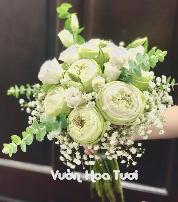 Bó hoa cưới Sen