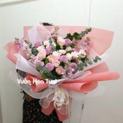 Bó hoa hồng dâu Chúc mừng sinh nhật-BHT59