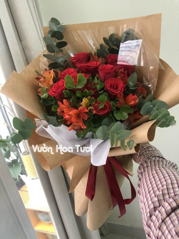 Bó hoa hồng đỏ chúc mừng sinh nhật-BHT58